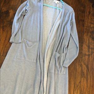 Gorgeous Blue/Grey Soft Swtr Small Sarah-LulaRoe